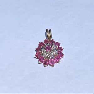 Jewelry - 14KT ruby and diamond 💎♦️ pendant